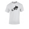 Banksy Fallen Angel T Shirt in Grey